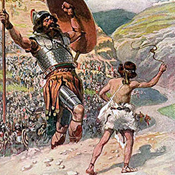 bible history, war history, kingdom of Israel, David and Goliath