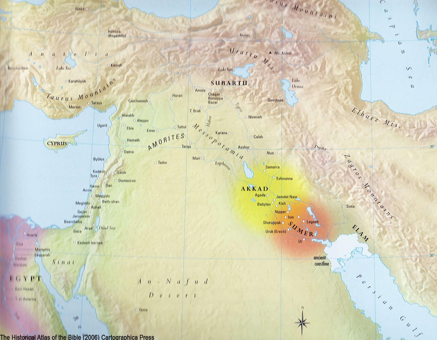 ancient maps, Ancient Middle East map, Bible map, early civilizations