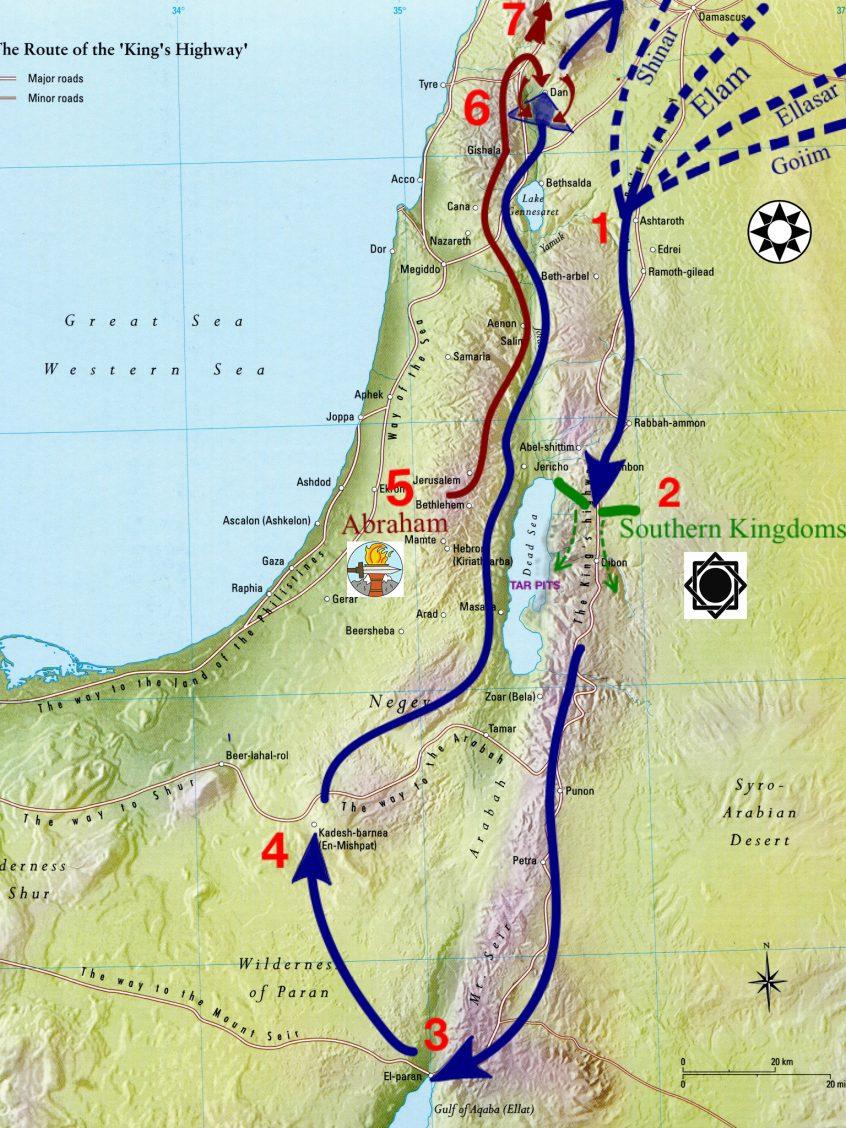 Genesis 14, Battle of Siddim, Abraham rescues Lot, War of the Nine Kings, Abraham's 318
