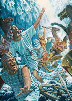 ancient Egypt, Bible battles, RED SEA CROSSING, Exodus 14, Escape from Egypt, Egyptian Chariots Drown, God delivers the Hebrews