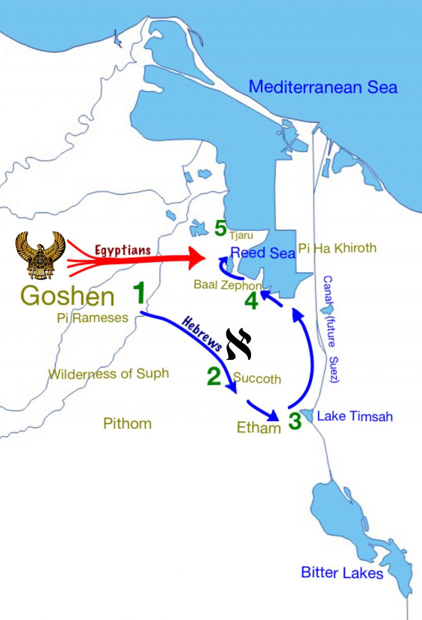 Exodus 14, ancient maps, Bible history, military history, Bible battles, Red Sea crossing