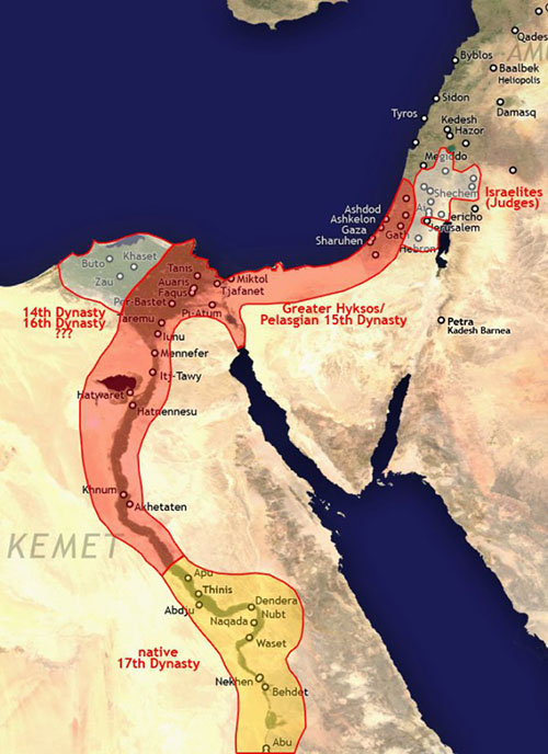 Ancient Middle East map, ancient maps, Biblical maps, ancient Egypt, Hyksos
