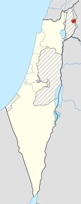 Israel Mt Bental map