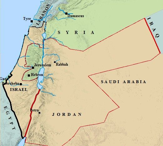 ancient Israel borders