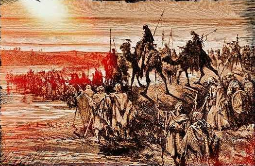preparing for invasion of Canaan, promised land