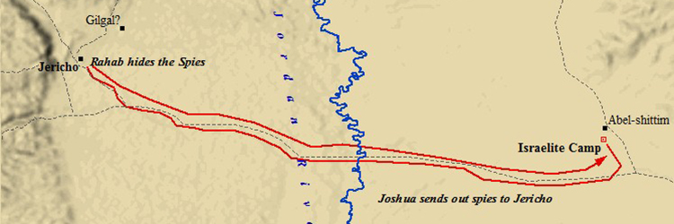 Ancient Middle East map, ancient maps, Biblical maps, Battle of Jericho, Joshua 5, Joshua 6, Jericho spies