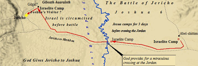 Ancient Middle East map, ancient maps, Biblical maps, Battle of Jericho, Joshua 5, Joshua 6