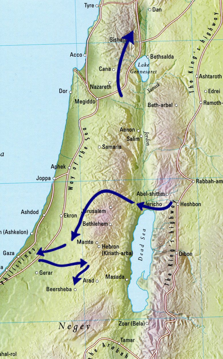 Bible battles, Invasion of Canaan, ancient history, ancient maps,
