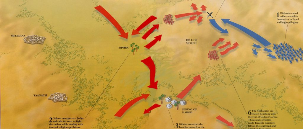 ancient history, religious wars, ancient maps, battle map, warfare definition, military history, Gideon