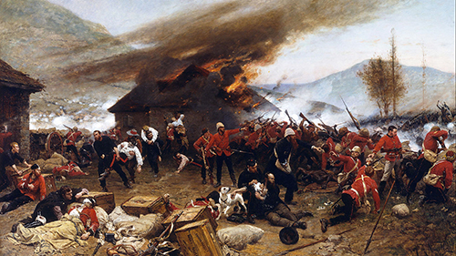 world history, Zulu attack, military history, religious wars, events in history, Rorke's Drift, British Army