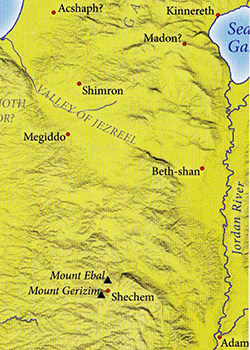 ancient maps, Ancient Middle East map, Bible map, Kingdom of Israel, Battle of Waters of Merom, Joshua 11, Northern Kings; King Jabin of Hazor; Canaan North Campaign
