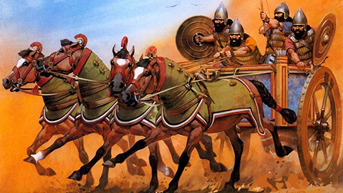 canaanite chariots, ancient weapons, military history, ancient war, Joshua 11