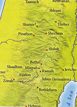 ancient maps, Ancient Middle East map, Bible map, Kingdom of Israel, ancient warfare, Bible battles, Occupation of Canaan, Occupation of the Promised Land, death of Joshua, Judges 1-2