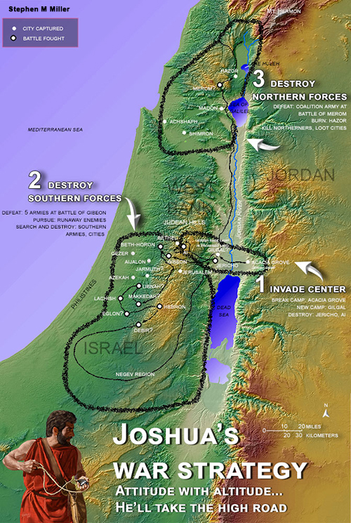 Ancient Middle East map, ancient maps, Biblical maps, ancient warfare, Bible battles, Occupation of Canaan, Occupation of the Promised Land, death of Joshua, Judges 1-2