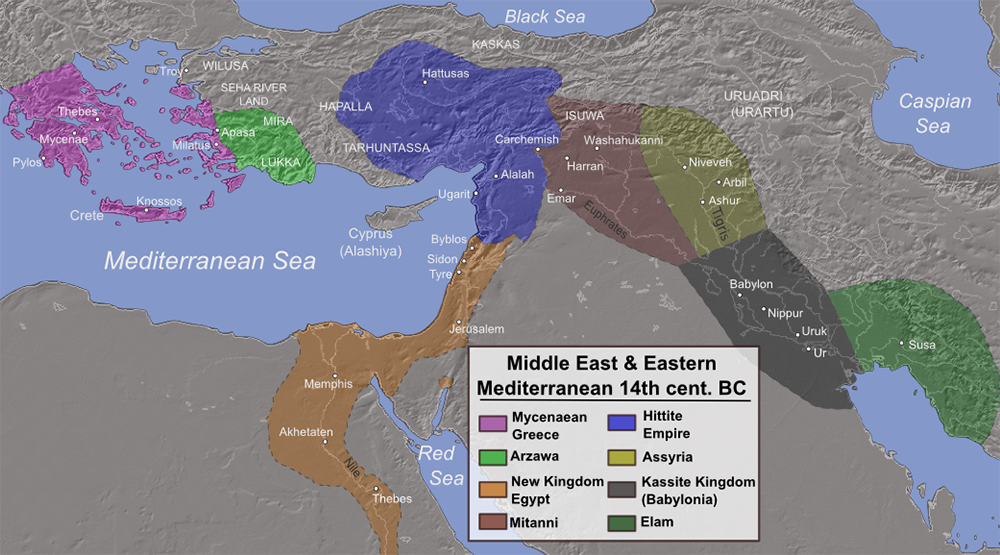 Empires in the Levant (Promised Land) between the Judges and the Kingdom of Israel