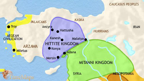 Kingdoms of Hatti and Mitanni competing for the Promised Land