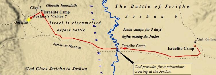 ancient maps, Bible history, military history, Bible battles, Army of God, Battle of Jericho, Joshua 6