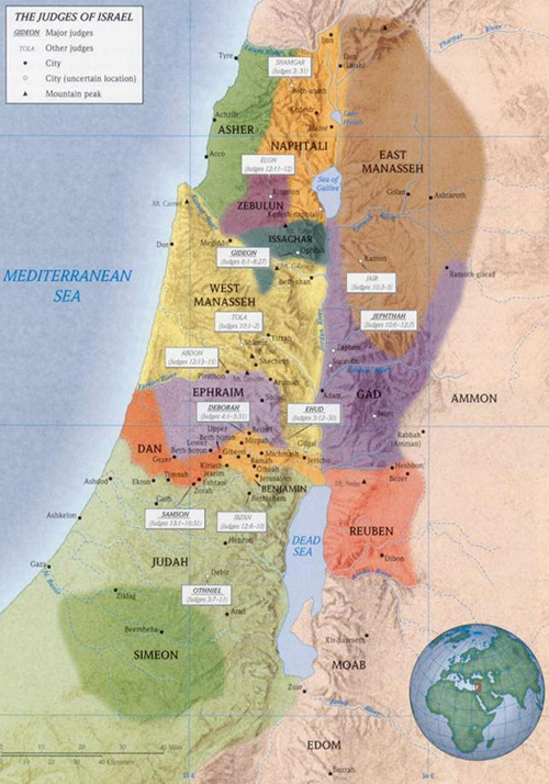ancient maps, Ancient Middle East map, Bible map, Kingdom of Israel, ancient warfare, Bible battles, The Book of Judges, Invasion of Canaan; Occupation of the Promised Land, Judges 3