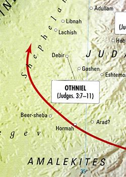 ancient warfare, Bible battles, OTHNIEL AGAINST the EDOMITES, King Cushan-Rishathaim, Israel in servitude, Judges 3